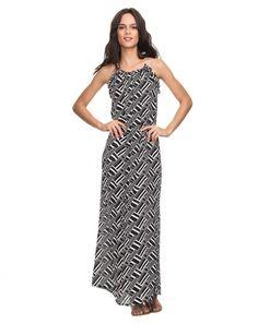 AMARO | Vestido Longo Geométrico