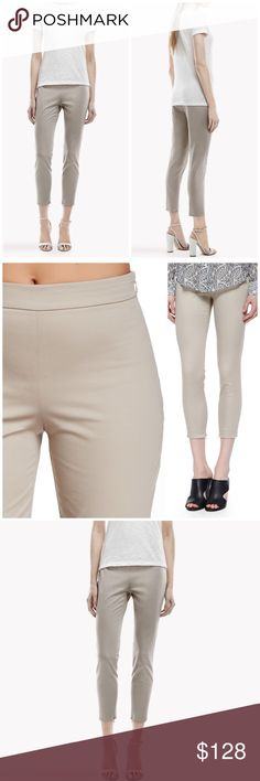 """❗️CLEARANCE❗️NWT Theory Cropped Pants Theory Cropped pants in light clay color. The sleek cropped leg of the Tonerma sateen stretch pant is finely detailed with a vented zip cuff. Side zip closure. Zip cuffs. Cropped leg. Measurements laying flat: waist 15.5""""/ front rise 10""""/ back rise 12""""/ inseam 32"""". Theory Pants Ankle & Cropped"""