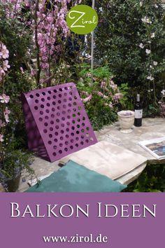 Zu einem Sehnsuchtsort, den wir in jeder freien Minute aufsuchen, können wir den Balkon gestalten, wenn wir ihn wohnlich und mit Pflanzen und Objekten einrichten, die uns etwas bedeuten. Cluster, Inspiration, Balcony Plants, Summer Flowers, Small Terrace, Meadow Flowers, Shade Perennials, Biblical Inspiration, Inspirational