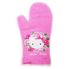 Hello Kitty Oven Mitt: Roses Hello Kitty Kitchen, Hello Kitty Clothes, Sanrio, Sims, Oven, Cute, Kitchen Items, Destiny, Kawaii