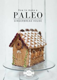 How to Make a Paleo Gingerbread House ~ Gluten, grain, dairy and refined sugar free with Coconut Sugar Royal Icing and not a 'lolly/candy' in sight. http://wholesomehomemade.com.au/how-to-make-a-paleo-gingerbread-house/