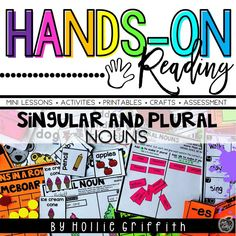 Teach students to use singular and plural nouns with this engaging hands-on resource. This bundle includes five days of mini lessons, anchor charts, class games with recording sheets, interactive notebook pages, task cards, and a quick assessment. This is a complete hands-on mini unit that will add fun and excitement to your classroom. #HollieGriffithTeaching #KidsActivities
