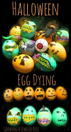 Halloween Egg Dying- why should Easter have all the fun?  Make pumpkin and monster eggs or decorate the eggs with spooky stickers.   A fun activity for the Fall