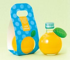 LADY MIKAN not sure whether this is juice or alcohol #packaging. In any case it's clever PD: