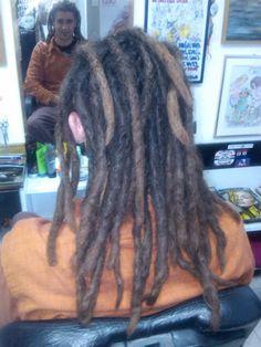Dreadlocks split made by salon Neva