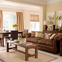 Living Room Ideas With Brown Furniture living room colors for brown furniture couch white trim natural
