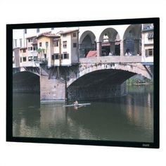 "Da-Lite 95592 Cinema Vision Imager Fixed Frame Screen - 49"" x 87"" HDTV Format by Da-Lite. $1015.99. 95592 Features: -Provides a perfectly flat viewing surface for video projection applications..-Surface mounts to the back of a black powder coated frame that provides a masking border..-Front projection surfaces standard with black backing for opacity.. Options: -Available in sizes from 60'' to 150'' diagonal in video format, 77'' to 159'' diagonal in HDTV format and 96'' ..."