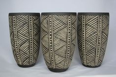 Modern Nomads / African Style Patterns / Mud Cloth / Sgraffito Pots, Demon Potters Carpet Love