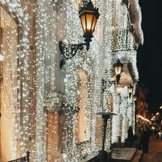 Cafe Pushkin | Moscow, Russia Christmas Winter Holidays Lights Sparkle Street City