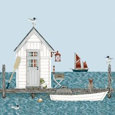 Sally Swannell boat and hut