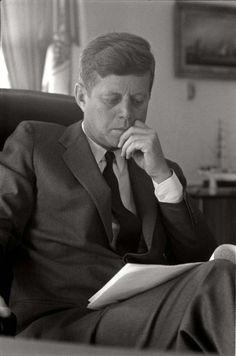 Max Scheler  John F. Kennedy im Oval Office des Weißen Hauses, Washington, USA  1963
