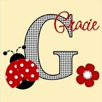 Lady Bug Wall Art, Personalized from Sassy Stitch Boutique