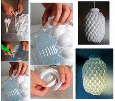 Zelf een lamp maken van lepeltjes