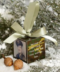 Military Personalized Photo Block Ornament by thefaithfulacorn, $18.00