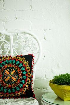 BLACK CIRCLE OF LIFE Circle Of Life, Color Splash, Vibrant, Cushions, Colours, Throw Pillows, Handmade, Black, Design