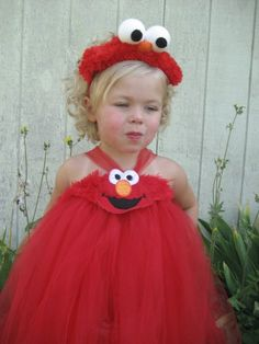 Boutique Pageant FURRY ELMO Halloween by pamperedprincesstutu, $55.00