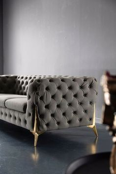 Chesterfield 3 Seater Sofa Luxurious Premium Faux Nubuck Leather Made To Order Living Room Sofa Design, Home Room Design, My Living Room, Living Room Designs, Luxury Bedroom Furniture, Home Decor Furniture, Sofa Furniture, Furniture Design, Sofa Frame