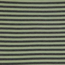 Olive and Heathered Gray Striped Cotton Jersey