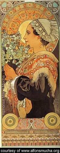 Thistle from the Sands. 1902 - Alphonse Maria Mucha - www.alfonsmucha.org