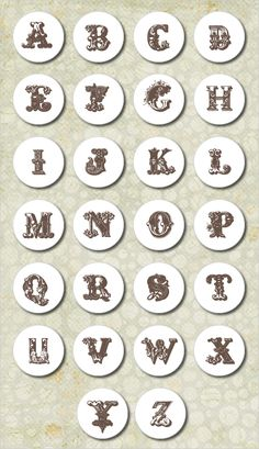 These beautiful Victorian Letters Free Wedding Downloads are are all in black and white and can be used to neatly seal an envelope, place on the top of favor boxes, goodie bags or whatever your heart desires.
