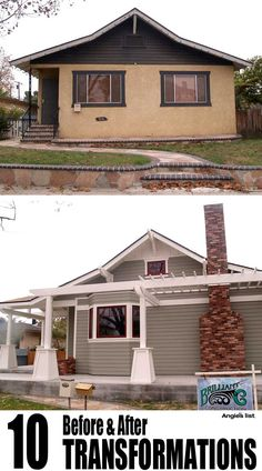 10 AMAZING home exterior before and after photos - because someday I may buy a worn-out-looking house.