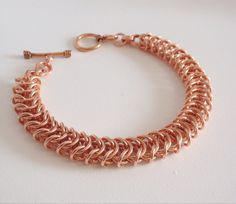 Chainmail Copper Bracelet Box Chain Jewelry Copper Gifts For
