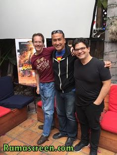 Rockin' it with Eric Zala and Chris Strompolos at the Raiders!: The Story of the Greatest Fan Film Ever Made press junket.