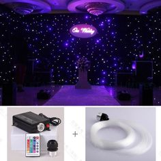 98.66$  Buy here - http://alitie.worldwells.pw/go.php?t=32729854488 - Wedding Occasion and Event&Party Supplies Type design wedding halls fiber optic starry star light