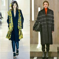 Antonio Bernardi with a dupatta style throw over and oversized coats are still in fashion as seen on Amanda Wakeley's at London Fashion Week Feb 2015 #AW16 #LFW15 #LFW runway show.