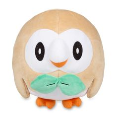 Official Rowlet Poké Plush. First partner Pokémon from Pokémon Sun and Pokémon Moon. Pokémon Center Original.