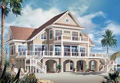 Plan W21638DR: Vacation Beach House Plan Total Living Area: 4,959 sq. ft.