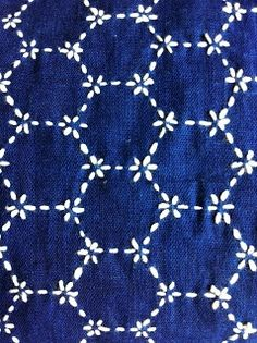 Gorgeous sashiko stitching