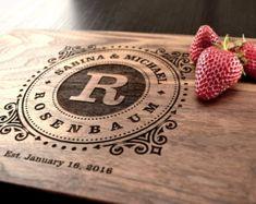 Personalized Cutting Board Custom Wedding Gift by TrueMementos