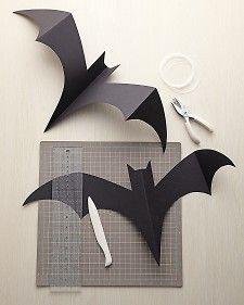 DIY - Paper Bats template (Source : http://www.marthastewart.com/852559/hanging-bats)