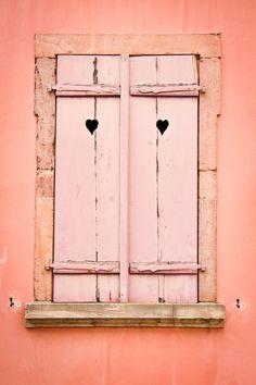 Lovely coral door