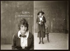 "Mug shot of May Russell, 31 January 1922, Central Police Station, Sydney. Details unknown. This picture is one of a series of around 2500 ""special photographs"" taken by New South Wales Police Department photographers between 1910 and 1930."