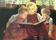 """image of fairy reading book   ... to The Schoolmarm.com » """"Fairy Tale"""" by Sir Walter Firle c. 1890"""