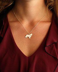 Handmade Jewelry Border Collie Necklace - IBD - Dog Lover Gift - Handmade…