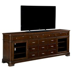 Perfect for your living room or bedroom, this handsome media console offers versatile design and rustic-chic style. 6 drawers hold DVDs, books, and accessori...