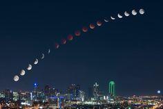 テキサス州ダラスで、5時かけての、素晴らしい #スーパームーン の #皆苦月食 同じ空で繋がっている、友人からの #Gift