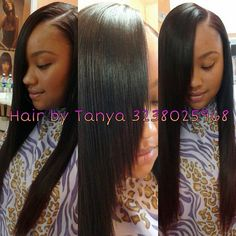 Laid Side Part Sew In by Tanya. Pinterest: ♚ @RoyaltyCalme †