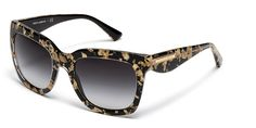 DOLCE & GABBANA DG4197 GOLD LEAF LEAF GOLD ON BLACK