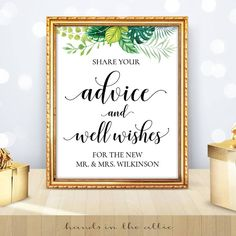 Share Your Advice and Well Wishes Sign