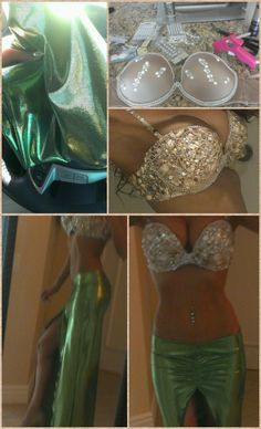 Feel very inclined to make this homemade mermaid costume for Halloween Hell Yeahhhh Costume Halloween, Cool Halloween Makeup, Fete Halloween, Halloween 2014, Holidays Halloween, Halloween Make Up, Couple Halloween, Halloween College, Haloween Ideas