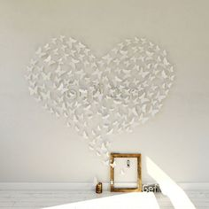 White PVC 3d Decorative Butterflies Removable Wall Art Sticker Decal Home Wedding Decor Decoration - 45+ Beautiful Wall Decals Ideas  <3 <3