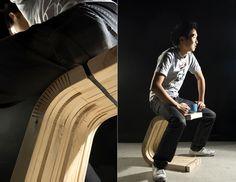 Flexible Wooden Stool 3