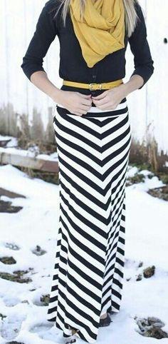 #hijab maxi skirt