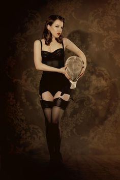 eeee34a70ce Kiss Me Deadly Vargas Dress in Black Retro Lingerie