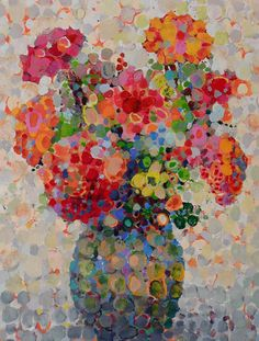 Angelo Franco,Artist,Hudson River Scenes,Floral Bouquets,Abstract Still… Artist Painting, Painting & Drawing, Arte Floral, Beautiful Paintings, Love Art, Painting Inspiration, Art Lessons, Illustration, Modern Art