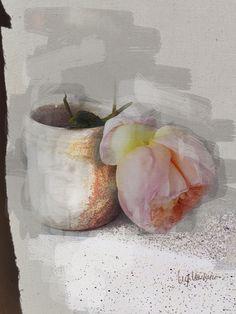 lv - rosa e vaso